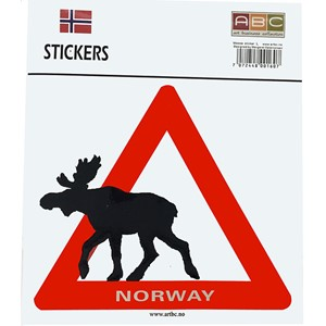 Stickers - Elg ut av skilt Large