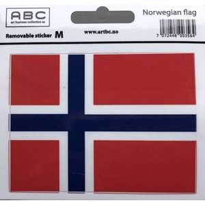 Stickers - Flagg Norge Medium